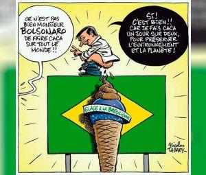 """Bolsonaro é retratado por cartunista francês na Charlie Hebdo fazendo """"cocô em todo mundo"""""""